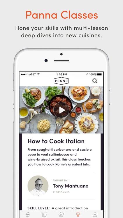 Panna: Video Recipes & Classes screenshot-4