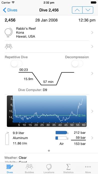 Dive Log screenshot two
