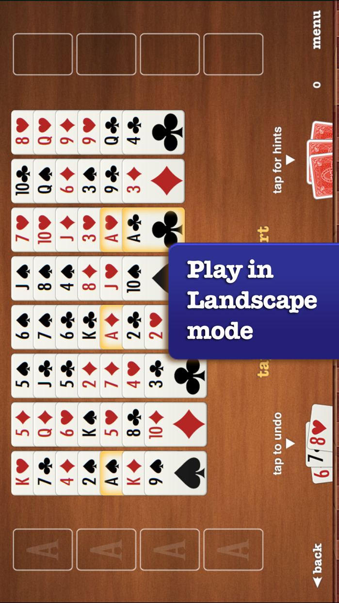 FreeCell ▻ Solitaire Screenshot