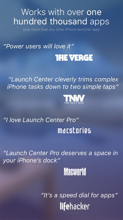 Launch Center Pro