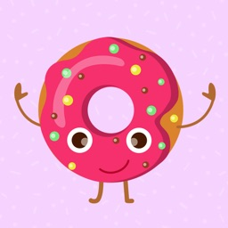 Animated Funny Donut Stickers
