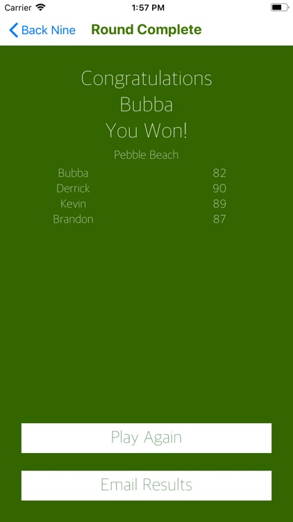 Bubba's Golf Scorecard screenshot-5