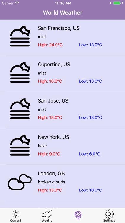 FLAT Weather Clock for iPhone screenshot-4