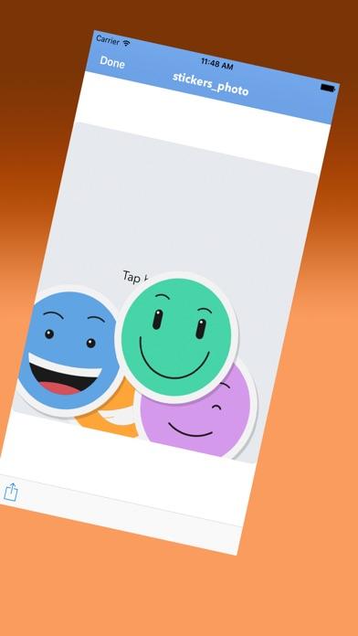 Netter Emoticons AufkleberScreenshot von 2