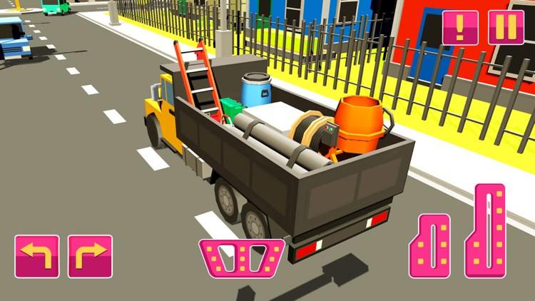 Pink Girl House Construction screenshot-3