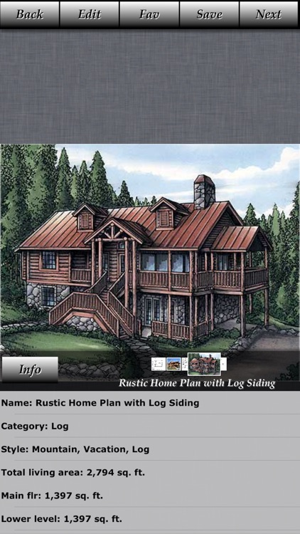 Log House Design - House Plans screenshot-2