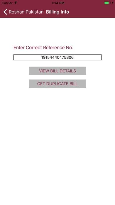 Screenshot of Roshan Pakistan App