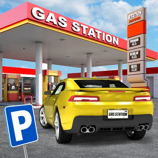 gas station car parking simulator gratuit jeux de voiture de course par play with games ltd. Black Bedroom Furniture Sets. Home Design Ideas
