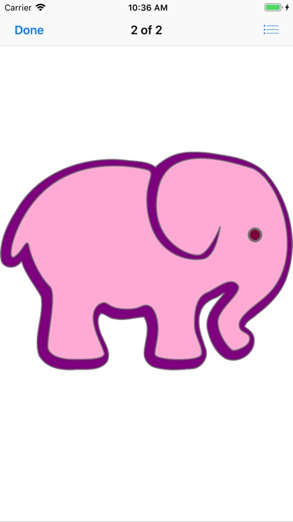 Pink Elephant Sticker Pack screenshot-3