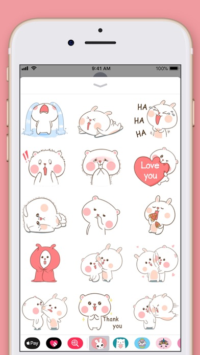 Cute Rabbit Kawaii Stickers screenshot four
