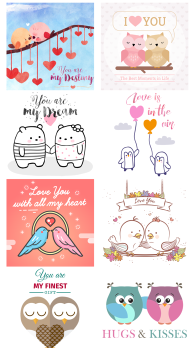 Love Quotes with Lovely & Cute Animal Couple Pack screenshot 4