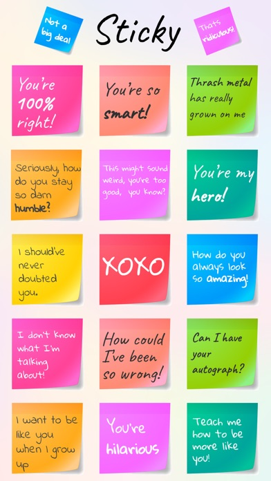 Sticky - Notes & Quotes Text Colorful Sticker Pack