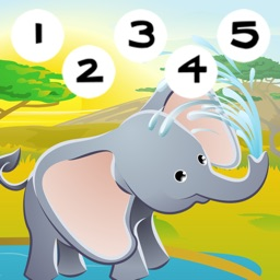 123 Counting Game Safari Cartoon Animals for Kids – Free Educational Interactive Learning Challenge