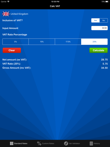 Screenshot of Calc VAT – VAT Calculator