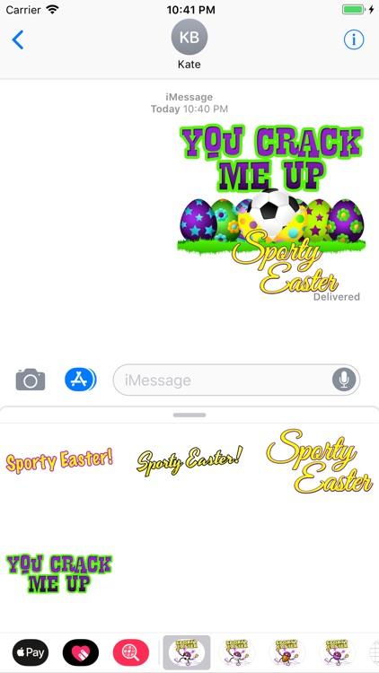 Easter Soccer Stickers screenshot-3