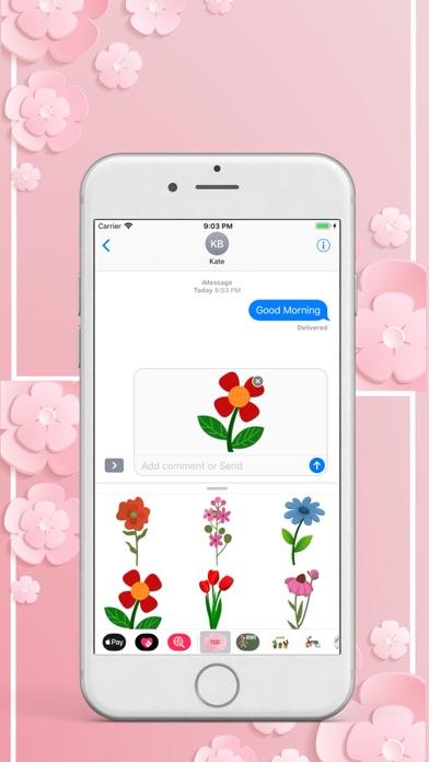 Beautiful Flower Pack Stickers screenshot one