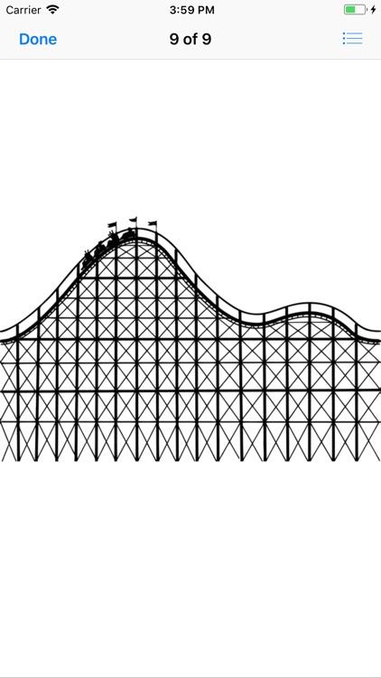 Roller Coaster Stickers screenshot-8