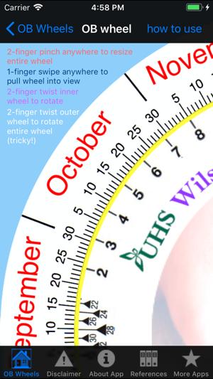 Gestational age wheel
