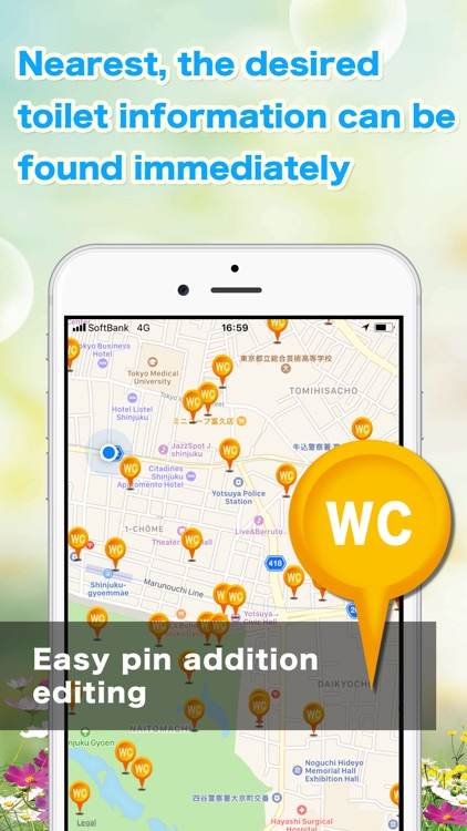 Toilet information map by FARBEYOND LLC