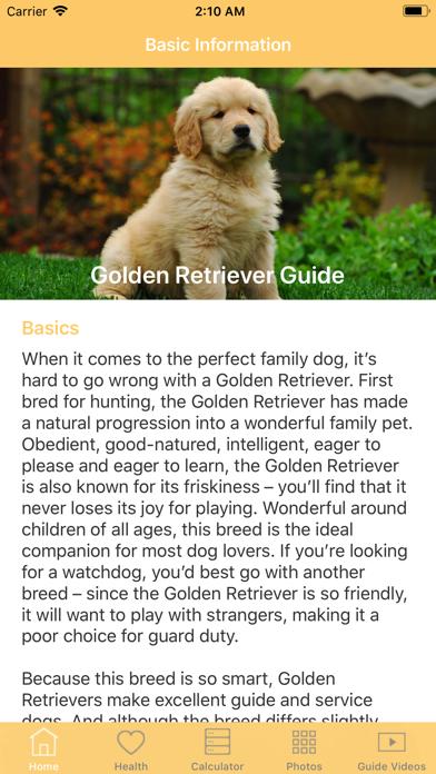 Golden Retriever Guide screenshot three