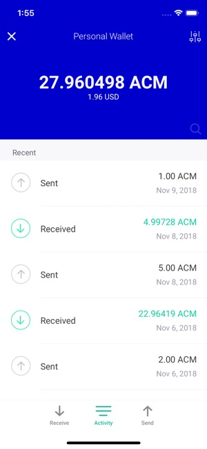 Actinium Wallet on the App Store