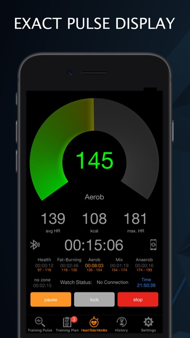 Training Pulse BT Screenshots