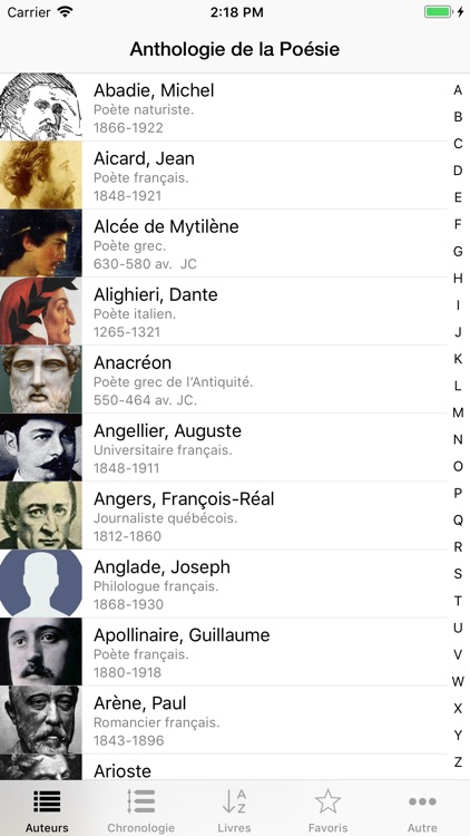 Anthologie de la Poésie screenshot-0