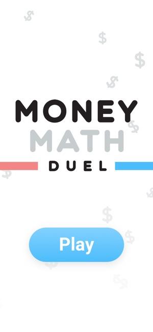Money Math Duel - Split Screen Screenshot