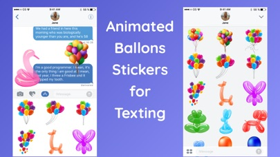Animated Balloons for iMessageScreenshot of 2
