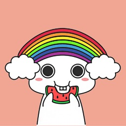 Rainbow Bunny Animated Sticker