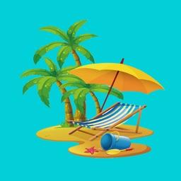Beach Lover Stickers
