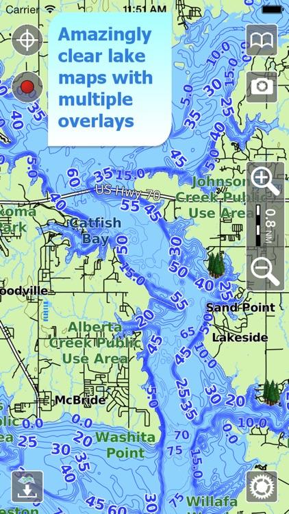 Aqua Map Texas Lakes GPS screenshot-0