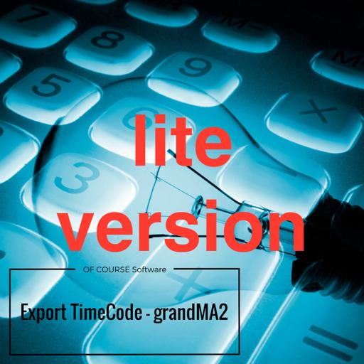 Export TimeCode - gma2 (lite)