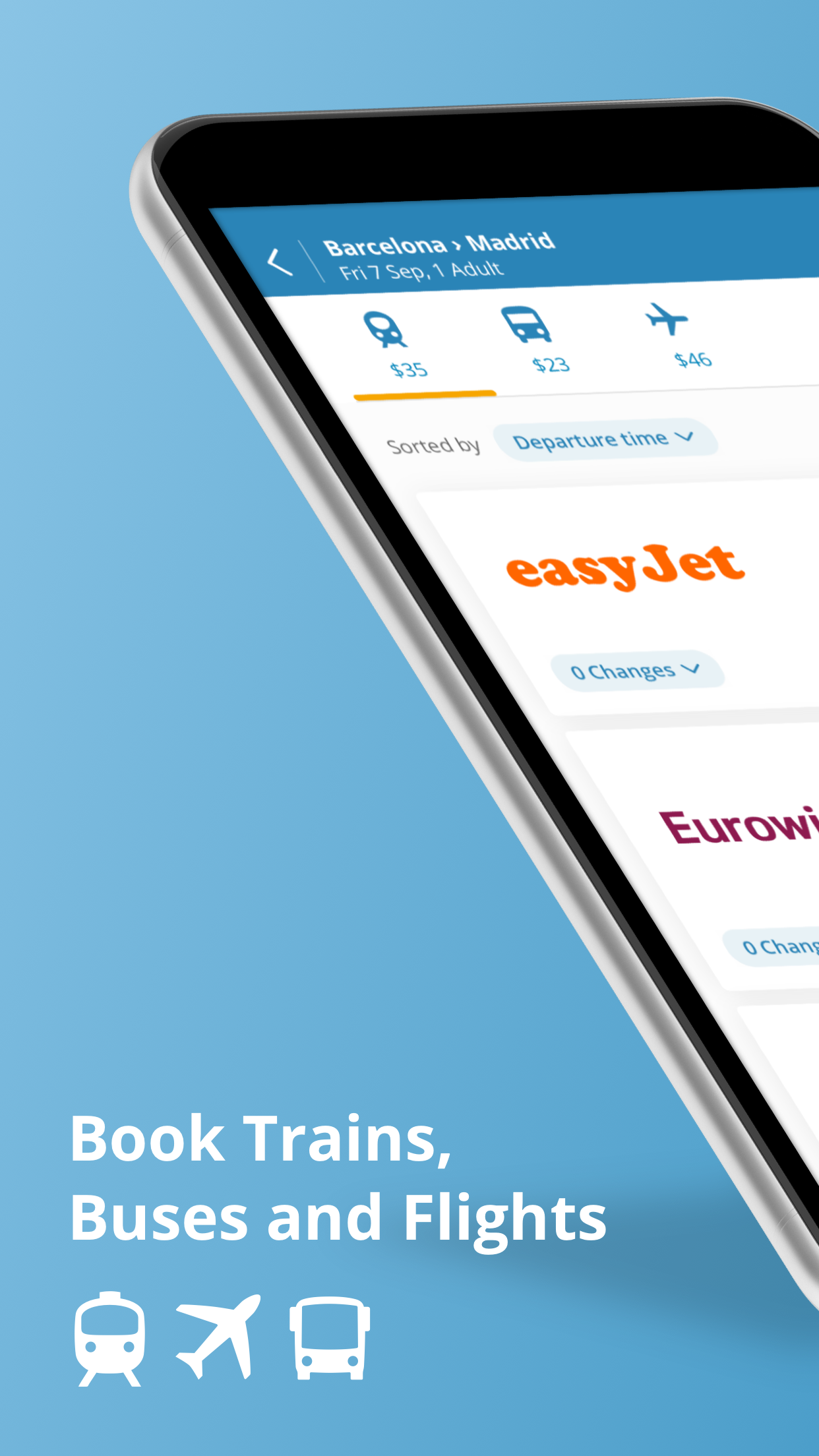 GoEuro: Train, Bus, Flight Screenshot