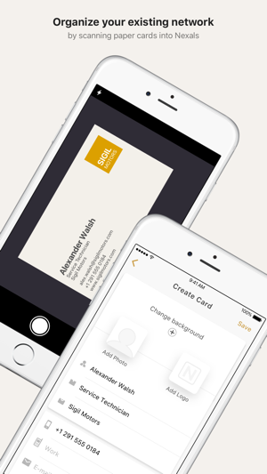 Nexals digital business cards on the app store colourmoves