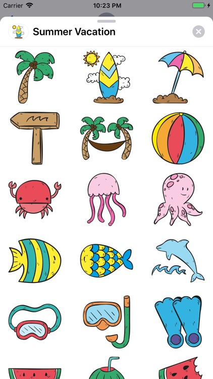 Summer Vacation Stickers