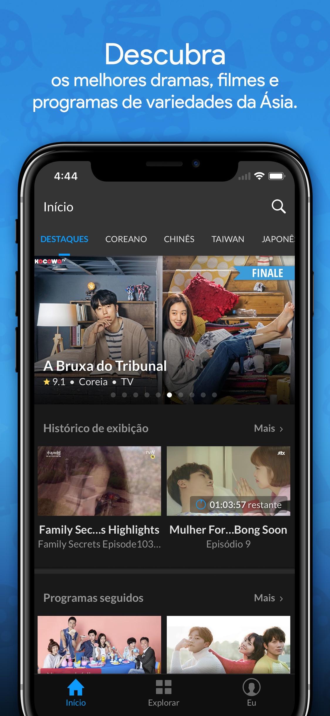 Screenshot do app Viki: Filmes e TV Asiáticos