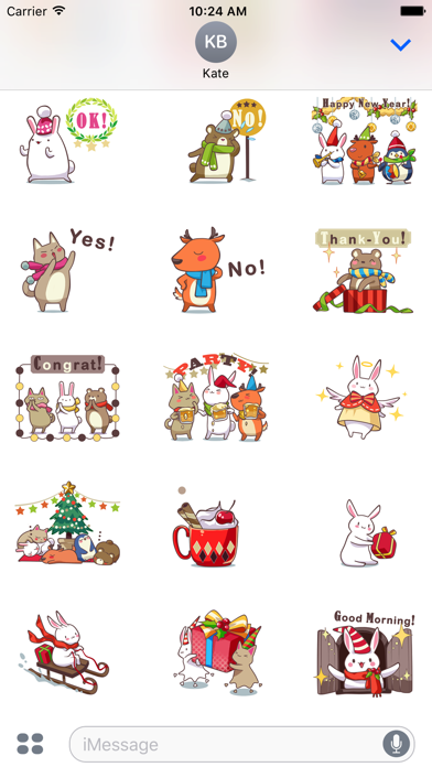 christmas buddy sticker pack screenshot three