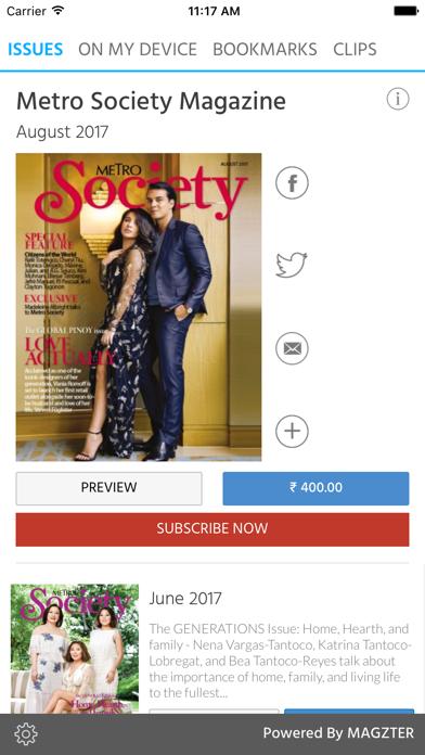 Metro Society Magazine screenshot 1