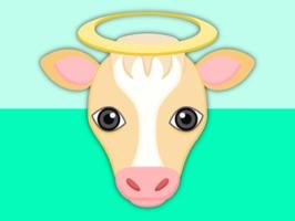 Blonde White Cow