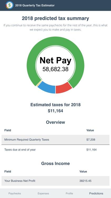 2018 Quarterly Tax Estimator screenshot-5