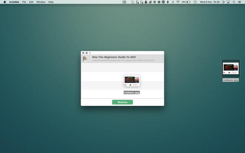 Invisible Screenshots