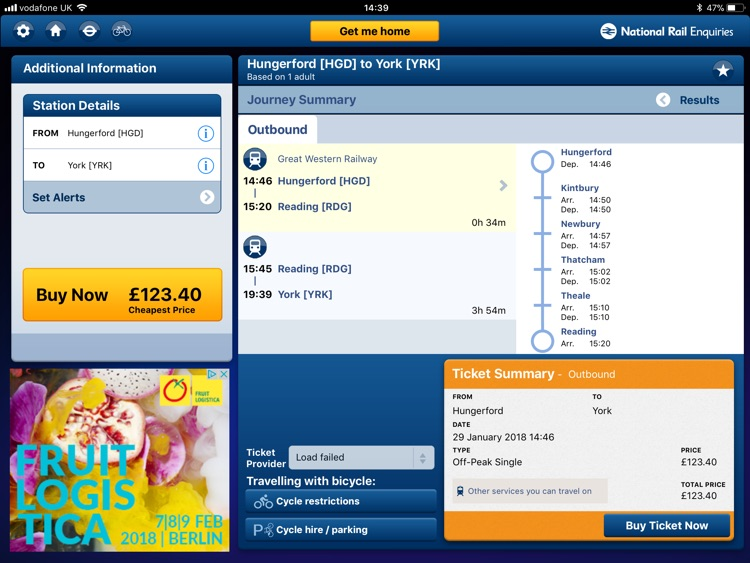 NationalRail Enquiries - iPad screenshot-1