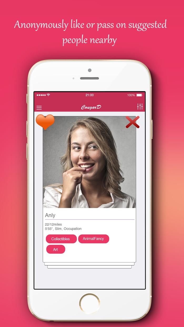 #1 Cougar Dating App - CougarD Screenshot