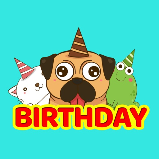 Birthday Greeting Stickers