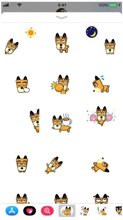 TF-Dog 1 Stickers