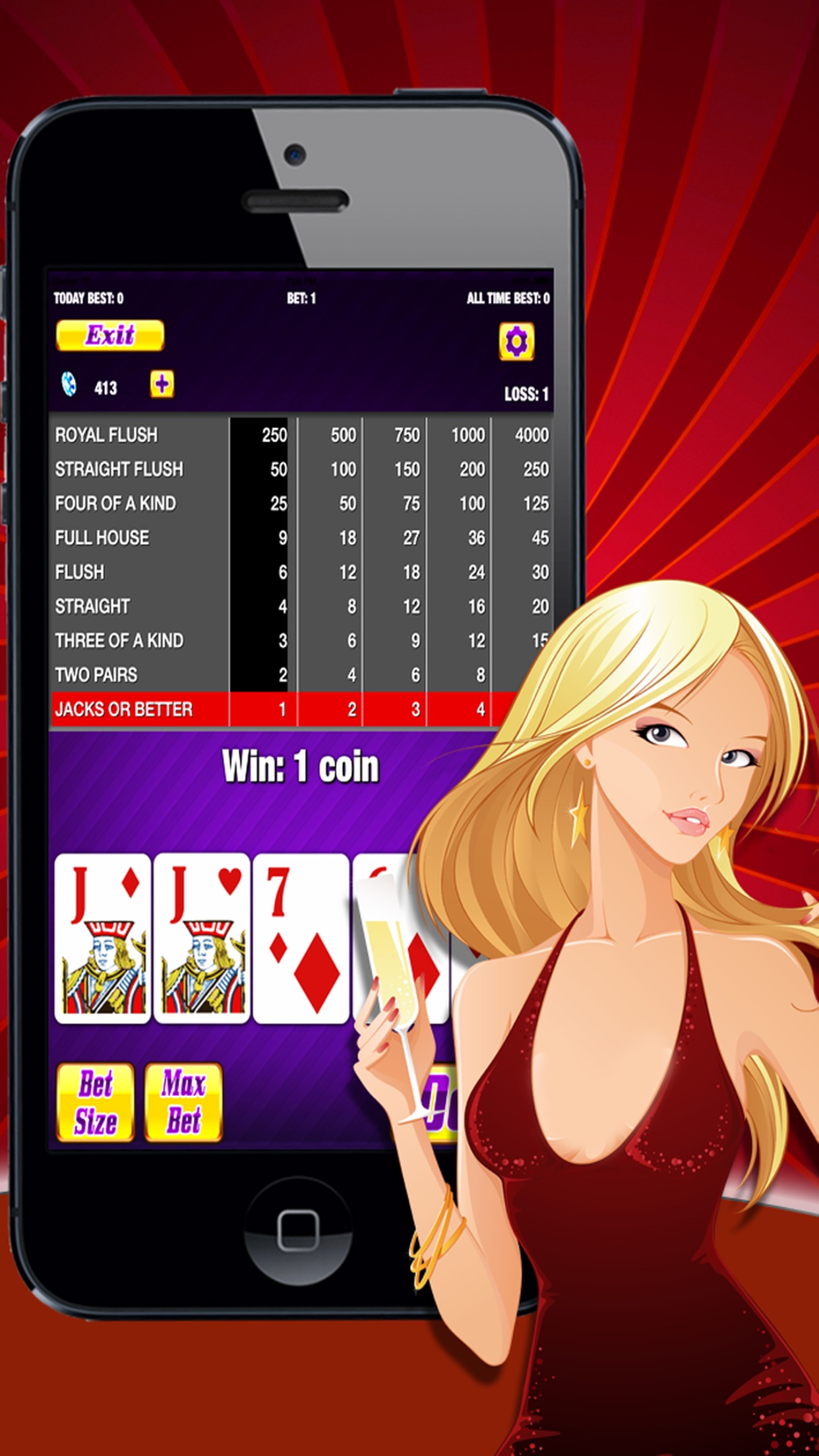 Adult Strip Poker Screenshot