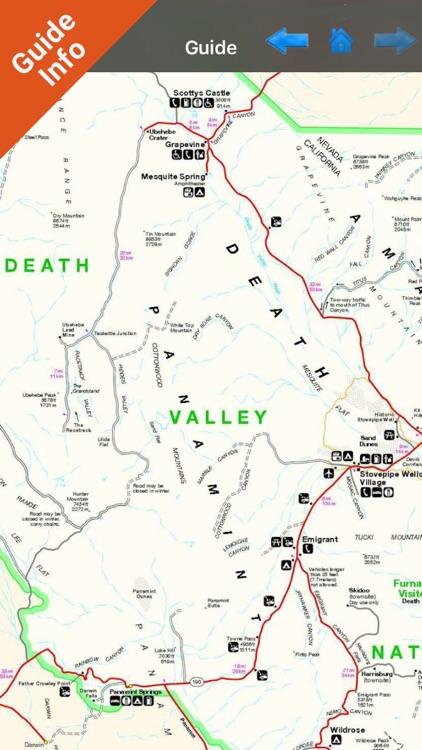 Death Valley National Park - GPS Map Navigator