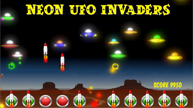 Neon UFO Invaders from Space screenshot-3