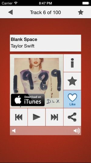 Music top 100's hits on the App Store